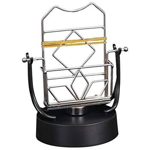 ZHUU Automatische Wandelen Swing Mobiele Telefoon Artifact Stappenteller Borstel Stepper Eeuwige Instrument Newton Rocker Craft Ornaments Pruik, Zwart