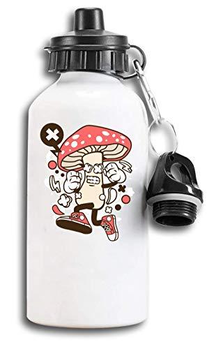 Iprints Cartoon Stijl Vlieg Alaric Paddestoel Toeristische Water Fles
