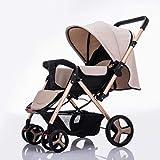 Cochecito de bebé plegable anti-choque de alta Vista del carro del cochecito infantil carrito silleta