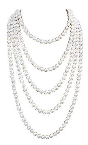 Cizoe 1920s Pearls Necklace Fashion Faux Pearls Gatsby...