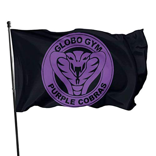 Viplili Banderas Purple Cobras Decorative Garden Flags, Outdoor Artificial Flag for Home, Garden Yard Decorations 3x5 Ft
