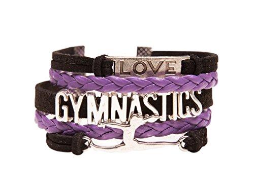 Gymnastics Charm Bracelet - Best Gift For Gymnast, Gymnastic Teams & Coaches