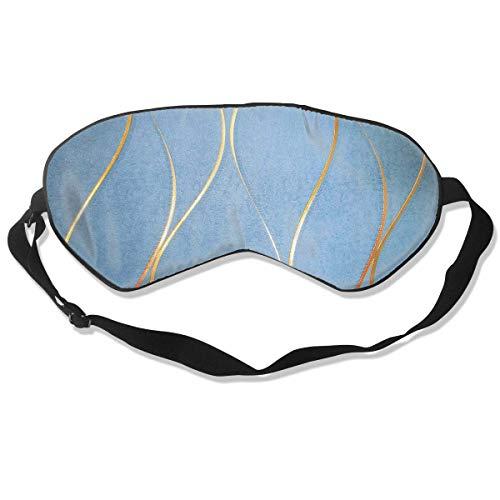 Oogmasker Behang Blauw Goud Slapend Masker Verstelbaar Ademend Slaap Masker Slapende Slaap Ogen Masker Oogschaduw Blindfold