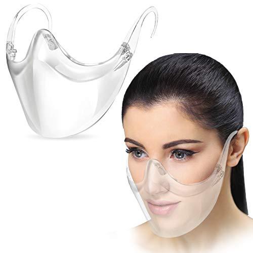 Durchsichtiger Mundschutz | Kunststoff Mund und Nasenschutz | Transparente Maske aus Plastik