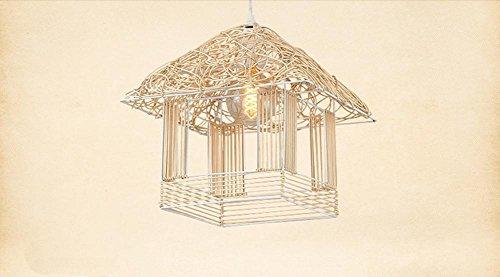 SZ&LAM Creative Tengyi Cage d'oiseaux Bar cabane Chandelier Maison individuelle Petite Maison Jardin terrasse Restaurant Restaurant Chaud Enfant lumière 130cm * 30cm * 30cm, 1