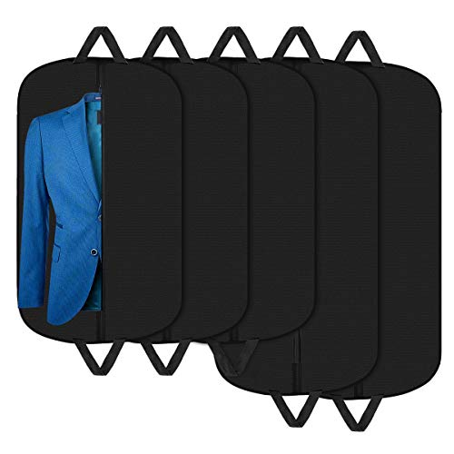 Aolerx Garment Bags Suit Cover for Travel Breathable Foldable Hanging Bag Suit Garment Cover for Shirts Dresses Coats,5 Pack