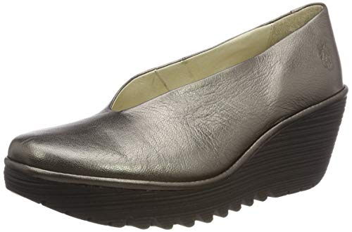 FLY London Mädchen Yaz Pumps, Gold (Bronze (Black Sole) 233), 35 EU