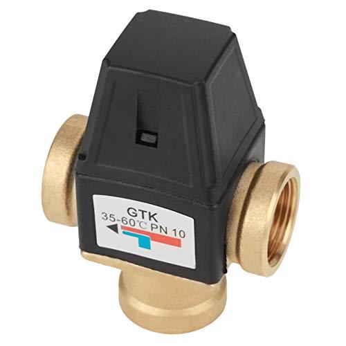 Válvula, Válvula mezcladora de latón quemado, Válvula mezcladora termostática, para agua caliente sanitaria Calentador de agua solar Calefacción por suelo radiante Dispositivos domésticos