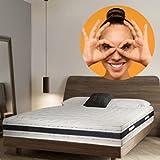 SLEEPERS Colchones viscoelásticos, 9 zonas de confort, 22cm de altura (180x200)