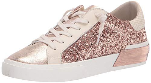 Dolce Vita Women's Zina Sneaker, Rose Gold Glitter, 9