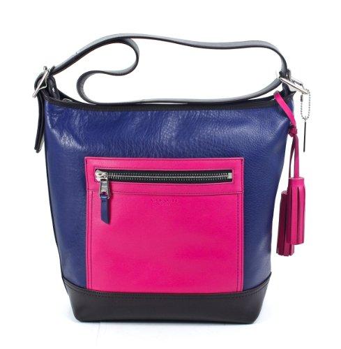 Hot Sale Coach Legacy Leather Colorblock Convertible Duffle Bag 19995 Fuchsia Multi