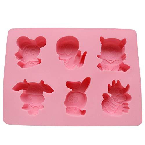 HUIZHANG Kaninchen Tiger Schlangen Ratten Drachen Fondant Tierkreis Silikon Kuchen SchokoladeAusstecher Kuchen Weihnachten Dekorieren Werkzeuge