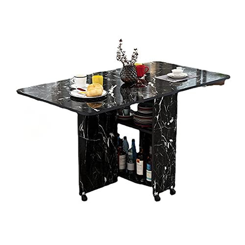 Mesa de comedor plegable moderna simplicidad multifuncional mueble de almacenamiento mesa de cocina muebles de hogar sala de estar mesa extensible (120 x 60 x 77 cm B2)