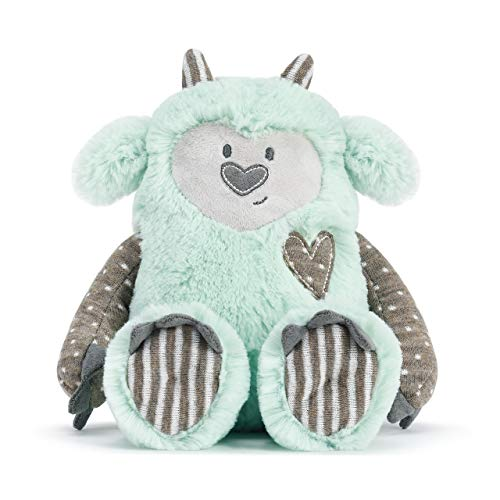 DEMDACO Green Growl Pal Loves with Big Heart 10 inch Children's Plush Stuffed Animal Toy