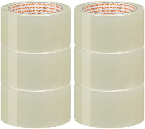 Nopi Universal Packband, 66m:50mm (6 Rollen - transparent)