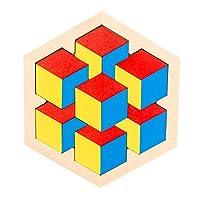 子供のための木製パズル大人-子供のための子供パズル六角形パターンブロック脳ティーザーパズルおもちゃロジックIQゲームSTEMパズルすべての年齢のための教育おもちゃギフトチャレンジ