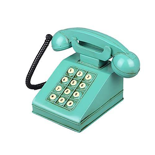 qazwsxedc Botón Retro Modelo de teléfono Creativo hogar Sala de Estar decoración Adornos teléfono de Hierro Forjado Hucha