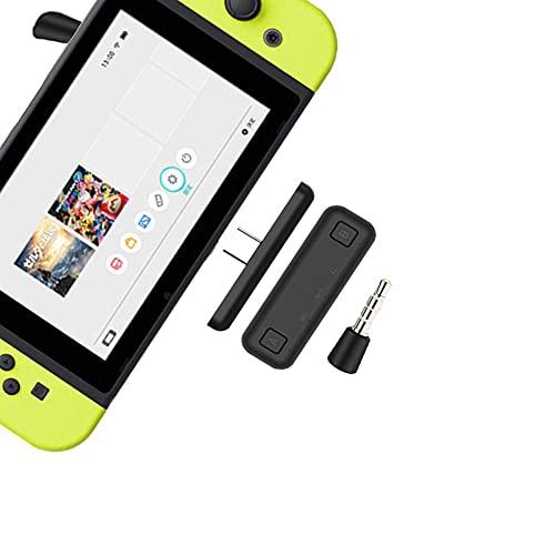 HAFOKO Route Air Pro Bluetooth Adapter Kompatibel Für Nintendo Switch & Lite, PS4/PC, Unterstützt Voice Chat Im Spiel w/APTX Geringe Wartezeit Kabellos Audiosender für Kabellos Headset
