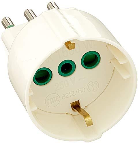 FME 82120 Tipo L (IT) Universal Blanco Adaptador de Enchufe eléctrico -...