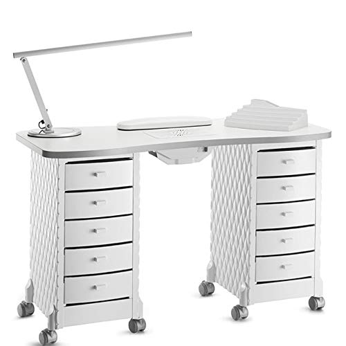 Table de manucure professionnelle complète avec aspirateur poussière et accessoires Arttomo.