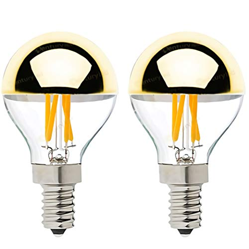 GHKLGTY Edison Light Bulbs 4 Watt,Tungsten Filament Bulb Led Dimmable 2700K Warm White,Suitable for Lighting Decorative Fixtures with E12/E14 Screw Ports,2Pcs,Gold,E12 110V