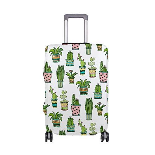 Orediy - Funda elástica para Equipaje de Viaje con Estampado de Cactus, Funda Protectora para Maleta (sin Maleta), Talla S, M, L, XL, Multicolor (Multicolor) - suitcasecover