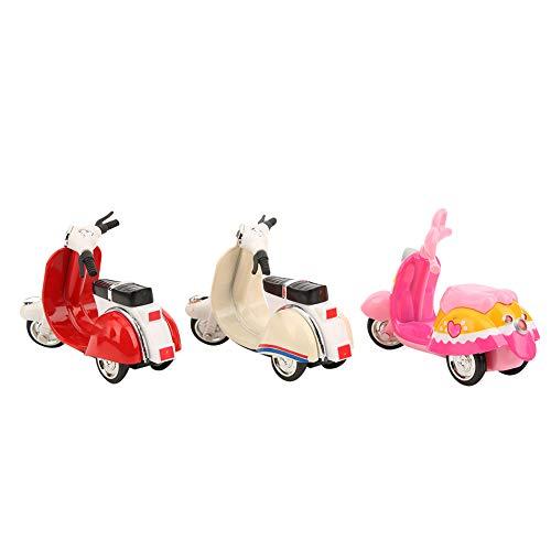 GOTOTOP 3 uds muñeca Barbies Scooter Rosa, Modelo de Motocicleta de aleación DIY Mini Accesorios de decoración de casa de muñecas para niñas