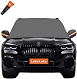 Leke Lake Car Windshield Snow Cover Ice Removal+Bonus Item.Windshield Ice Cover Pickup Windshield Protector Snow Cover for Pickup Trucks,Large SUVs,Minivans…