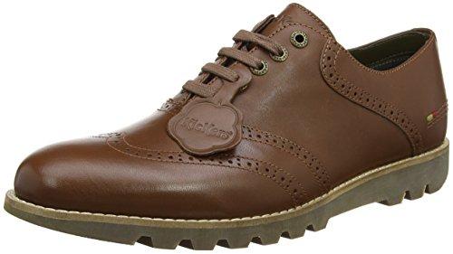 Kickers Kymbo Classic Brogue Lthr Am, Zapatos de Cordones Hombre, Marrón (Mid Brown), 45 EU