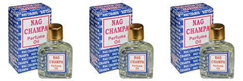 3 aceites de perfume Nag Champa de 3 ml (9 ml).