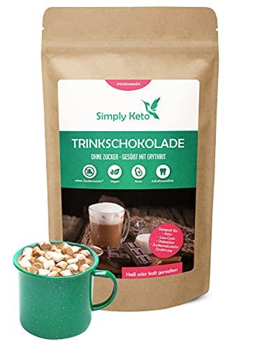 Simply Keto Drinking Chocolate senza zucchero (Classic) 700g - Cacao in polvere con 42% di cacao - Dolcificato con Eritritolo-Stevia - Meno di 1g di carboidrati netti per porzione