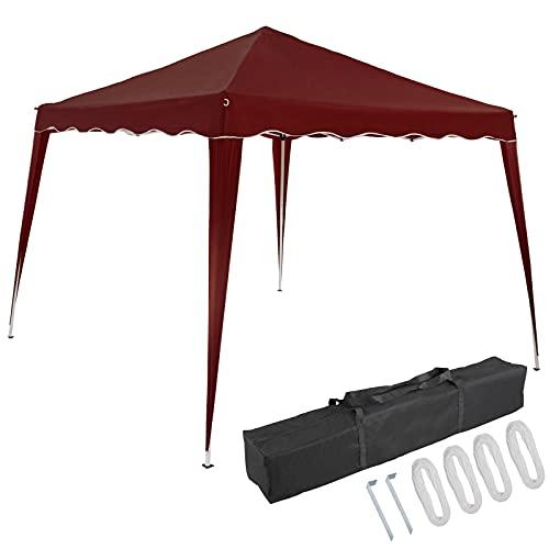 Deuba Pavillon Capri 3x3m Pop-Up UV-Schutz 50+ Wasserdicht Garten Party Faltpavillon Partyzelt Gartenpavillon Fest Rot