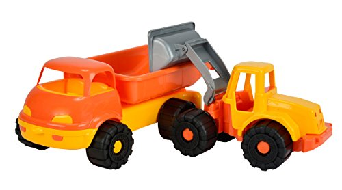 Simba 107132456 - camion dumper con escavatore