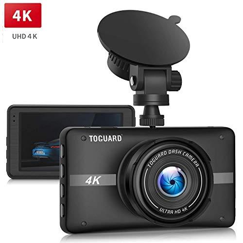 """TOGUARD Cámara de Coche 4K Ultra HD Dash CAM 3"""" LCD Grande Ángulo de 170° Cámara para Coche, con Monitor de Estacionamiento, Grabación en Bucle, Sensor G, NO WiFi NO GPS"""