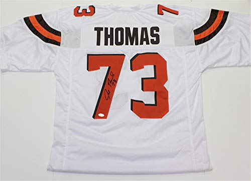 Joe Thomas Autographed Signed Cleveland Browns White Custom Jersey- JSA Authentic