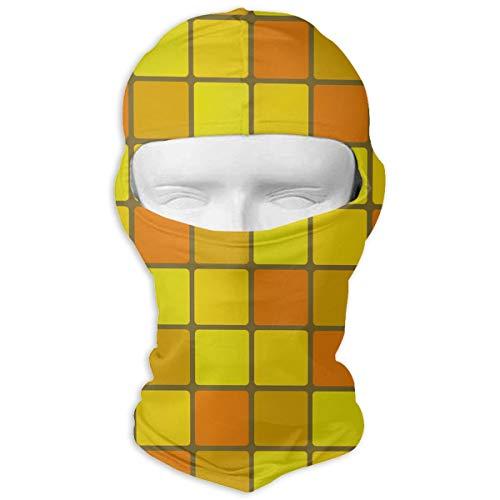 Sunflower Mosaic Full Face Mask Sun Dust Wind Protection Durable Breathable Seamless Face Mask Bandana