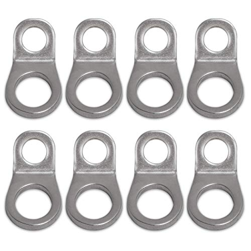 Dog River Tools Stainless Steel Multi-Purpose Tie Down Anchor Strapping Hooks for Mounting in The Garage, Work Shop, Truck, Trailer, Golf Cart, Fence (8-Pack)
