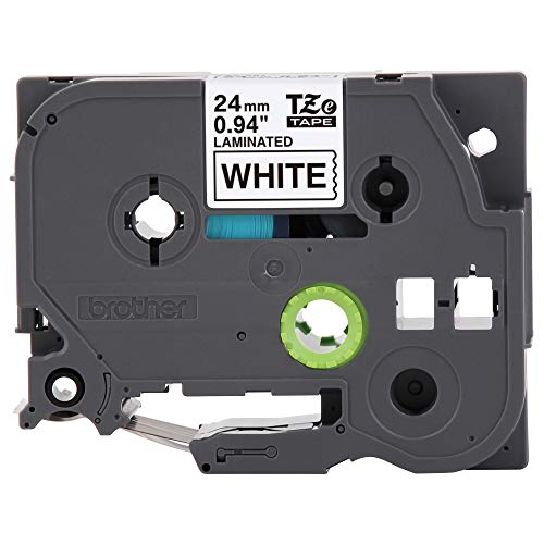 """Brother Genuine P-touch TZE-251 Tape, 1"""" (0.94"""") Standard Laminated P-touch Tape, Black on White, Perfect for Indoor or Outdoor Use, Water Resistant, 26.2 Feet (8M), Single-Pack"""
