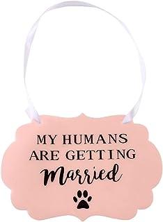 Licogel Plastic Signage Party Prop Bride Groom Small Medium Pet Wedding Sign Adjustable Letter Fashion Lightweight Plastic...