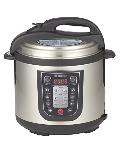 MasterPro MPMULTICOOK 12-in-1 6L Multi Cooker, Silver/Black