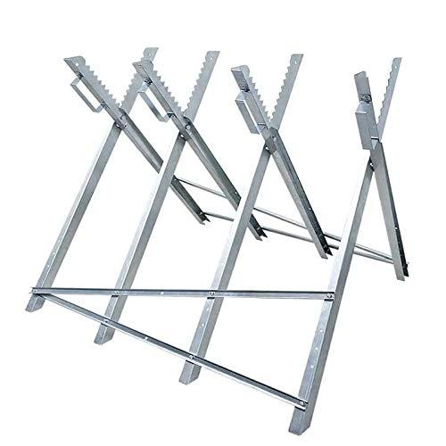Froadp Sägebock Zusammenfaltbar Stahl Holzschneidebock Sägegestell Tragfähigkeit bis 100KG für Säge Holzsägebock Kettensägebock(83x83x79cm)