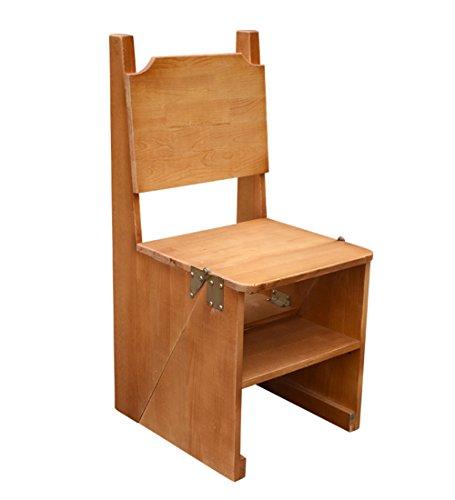 CAIJUN Tabouret Pliant Multifonction Ménage Bois Massif Escaliers Chaise Escabeau, 2 Couleurs en Option (Couleur : A)