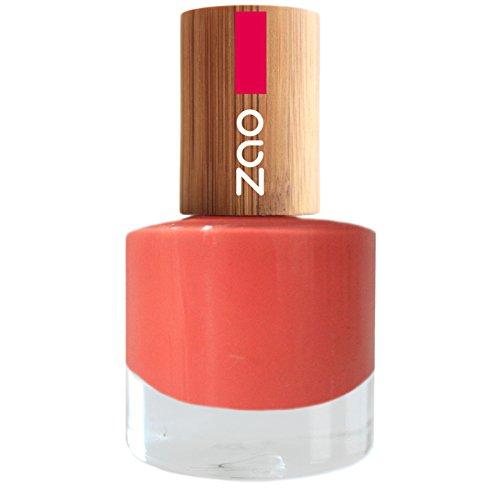 ZAO Nagellack 656 koralle pink-orange mit Bambus-Deckel (7-free, vegan) rosa