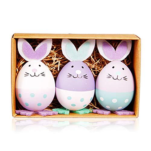 SJZV Los Huevos de Pascua Plásticos Dan a los Regalos de los Niños a Granel Pequeños Juguetes del Conejo