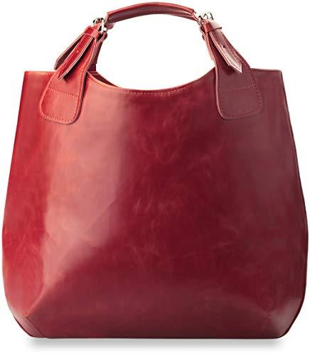 Unbekannt Modische geräumige Handtasche Shopperbag rot