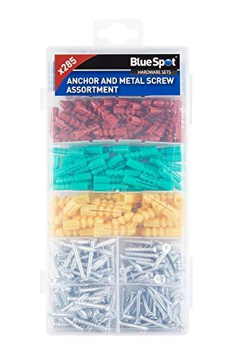 Blue Spot 40542 285PCE Anchor Metal Screw Assortment, Set of 285 Pieces