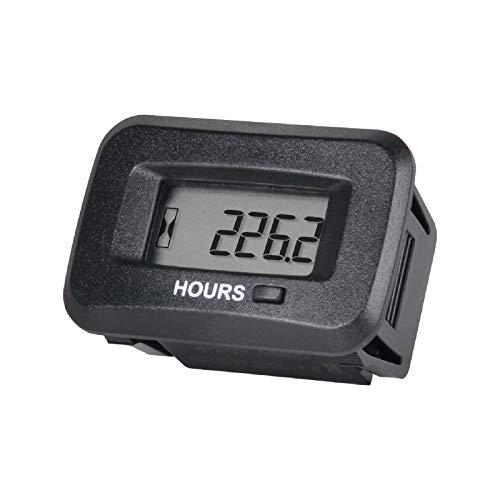 Yooreal Medidor de horas de OEM digital de CA / CC de, alerta de mantenimiento regular, funciona en varios cortadores de hilo de tractores cortacésped / cortadora de césped ZTR.