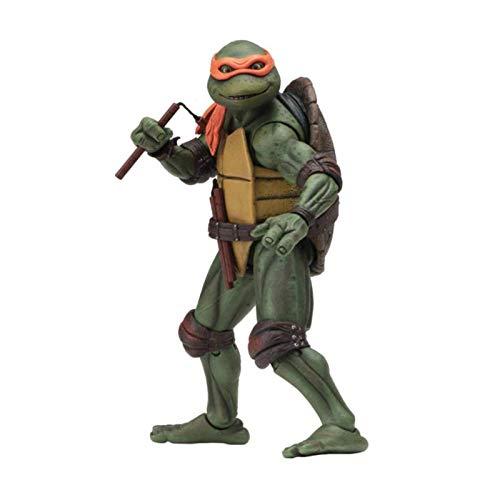 Ninja Turtles Toys (Teenage Mutant Ninja Turtles 1990) PVC Michelangelo Figuras de Juguete de Acción Juegos de Modelos de Personajes de Anime Como Regalos de Cumpleaños y Colección 15cm / 5.9in