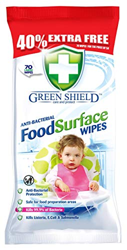 Greenshield Lingettes de Surface Alimentaire 40 %...