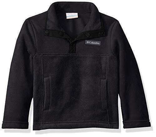 Columbia Unisex-Kinder Steens Mtn1/4 Snap Fleece Pull-Over Fleecejacke, schwarz, Large